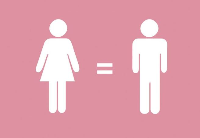 Women = men graphic.