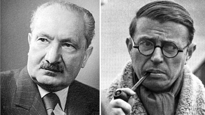 Martin Heidegger and Jean-Paul Sartre