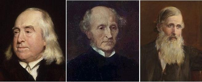 Jeremy Bentham, John Stuart Mill, Henry Sidgwick