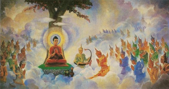 Buddha_preaching_Abhidhamma_in_Tavatimsa