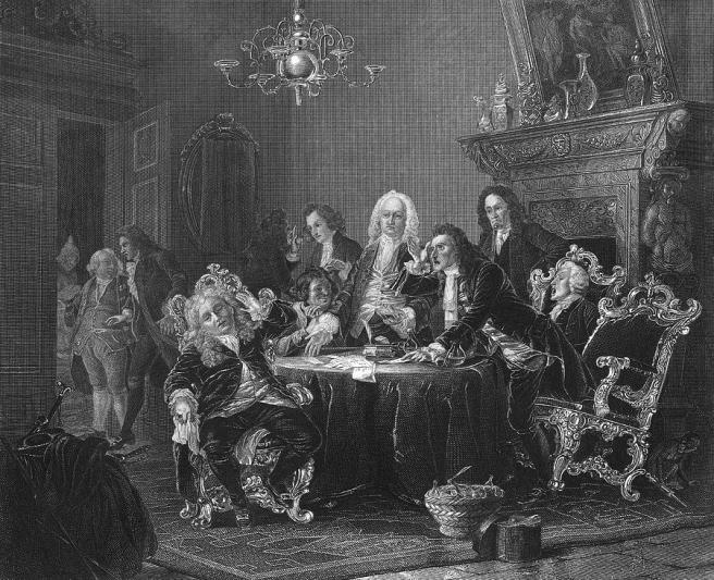 A Gathering Of Doctors, Disagreeing Over their Diagnoses : 18th century