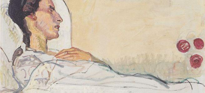 "Ferdinand Hodler, ""Valentine Godé-Darel on Her Sickbed,"" 1914"