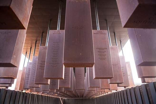 A Memorial at the Legacy Museum and National Memorial for Peace and Justice, Montgomery, Alabama.