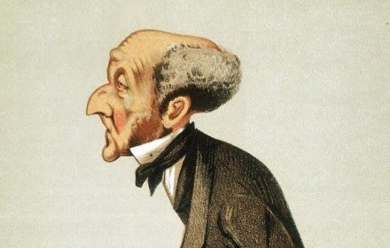 Cartoon drawing of John Stuart Mill