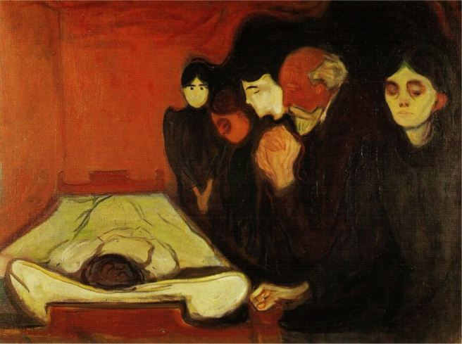 By The Death Bed, 1896 by Edvard Munch
