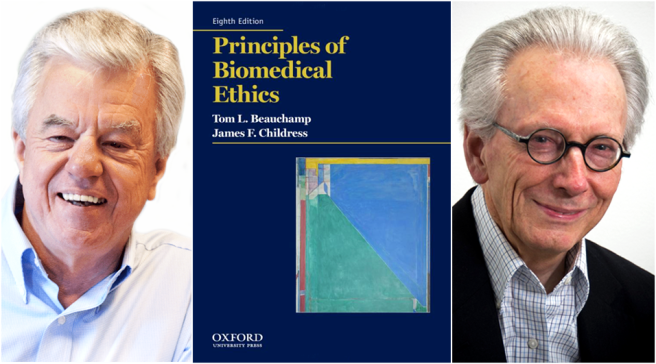 """Principles of Biomedical Ethics"" by Tom Beauchamp and James Childress"